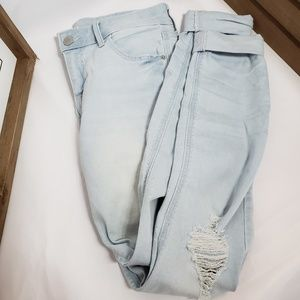 Old Navy Distressed Rockstar Mid-Rise Jeans